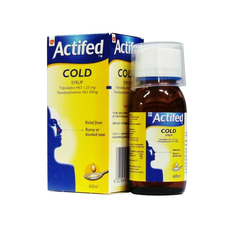 Actifed Cold Syrup - 60ml