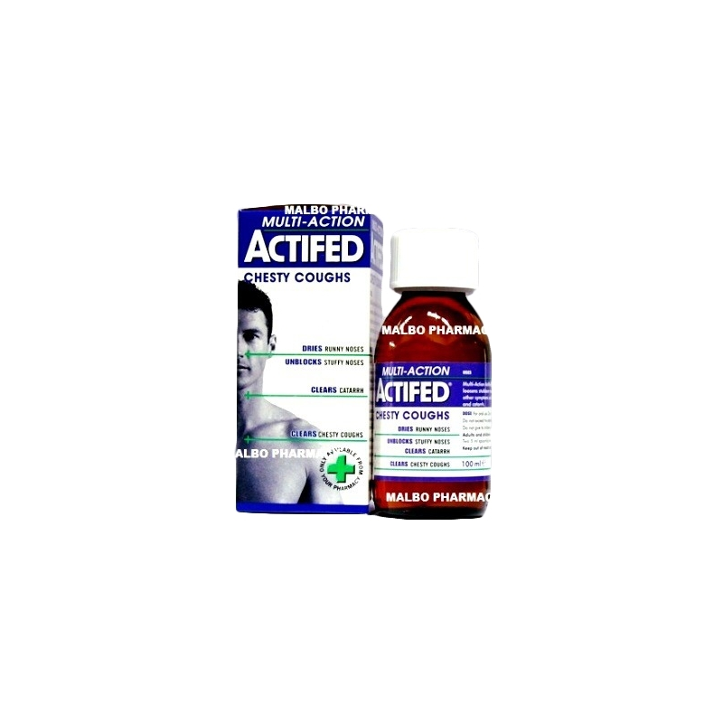 Actifed Multi-Action Chesty Cough Syrup -...