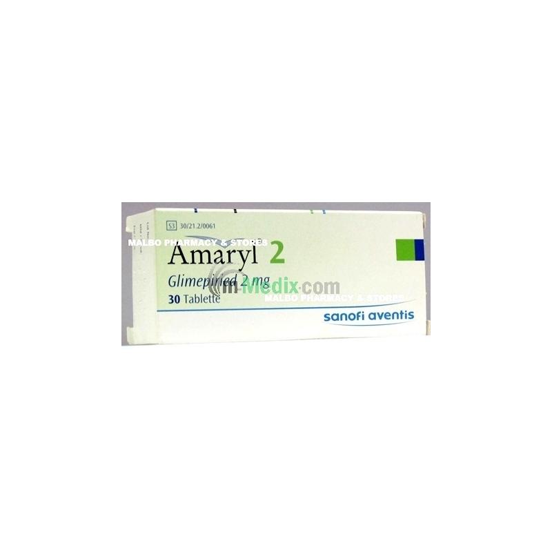 Amaryl 2mg - 30 Tablets