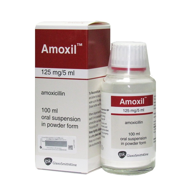 Amoxil 125mg/5ml Suspension - 100ml