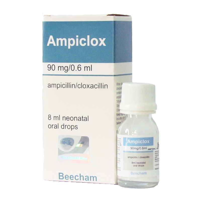 Ampiclox 90mg/0.6ml Neonatal Oral Drops - 8ml