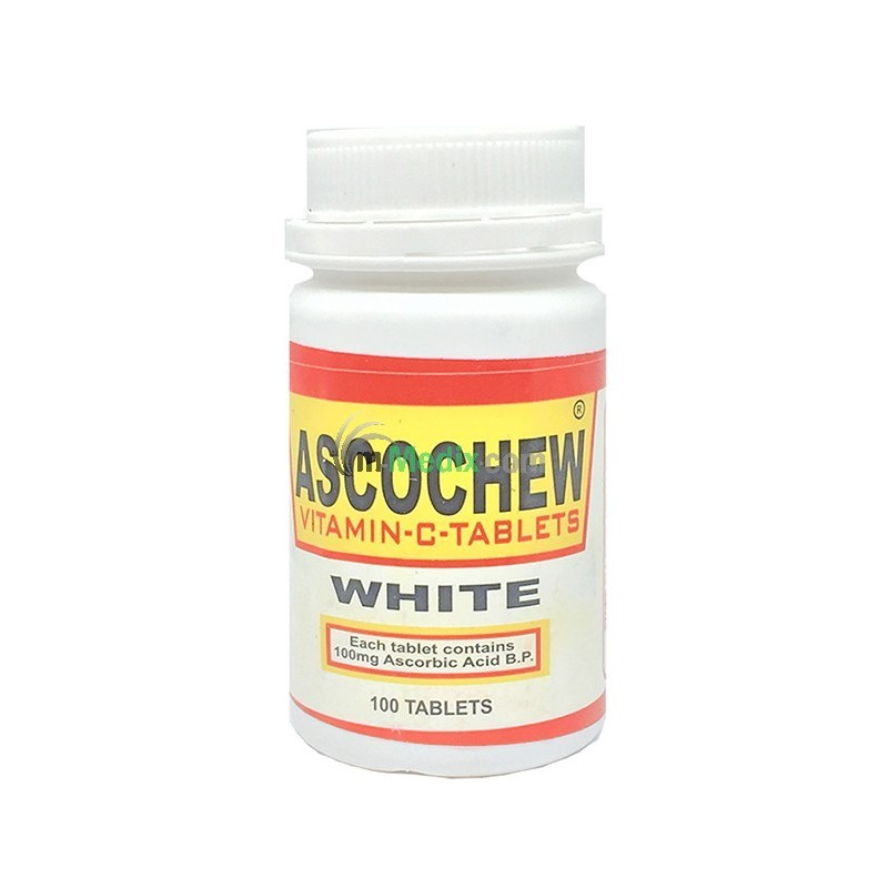 Ascochew White Vitamin C 100mg Ð 100 Tablets