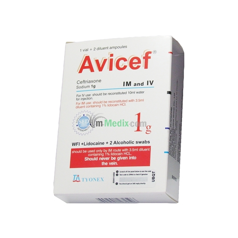 Avicef 1g Injection - 1 Vial + 2 Diluent...
