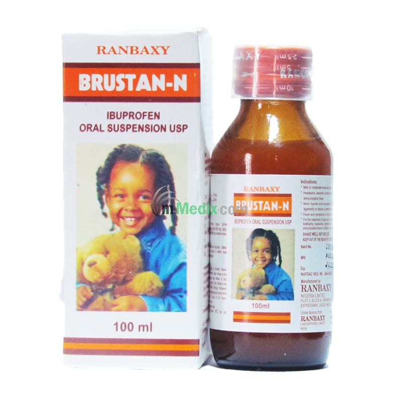 BRUSTAN-N Ibuprofen 100MG Syrup Ð 100ml