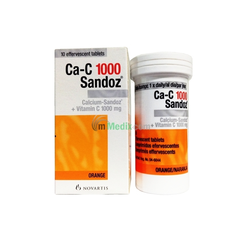 Ca-C 1000 Sandoz - 10 Tablets