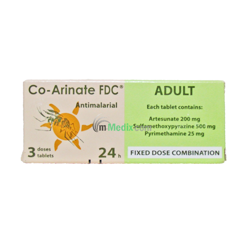 Co-Arinate FDC Adult Antimalarial - 3 Tablets