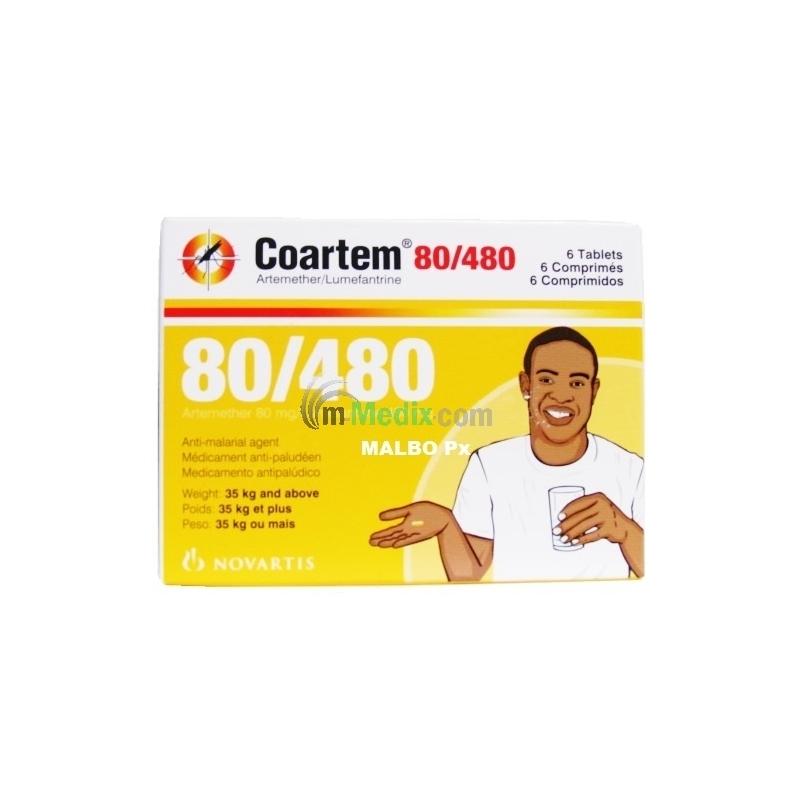 Coartem 80/480 Ð 6 Tablets