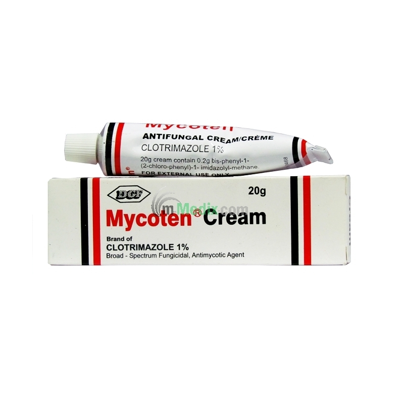 Drugfield Mycoten Clotrimazole 1% Cream - 20g