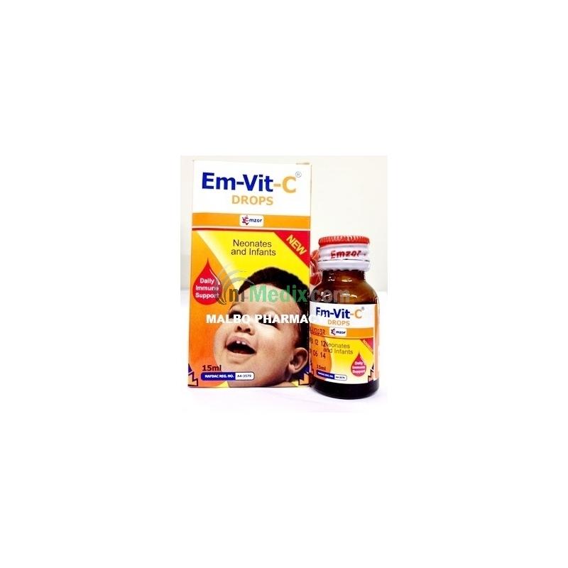 Em-Vit C Drops - 15ml