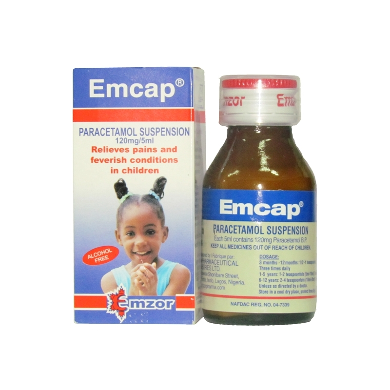Emcap Paracetamol Suspension - 60ml