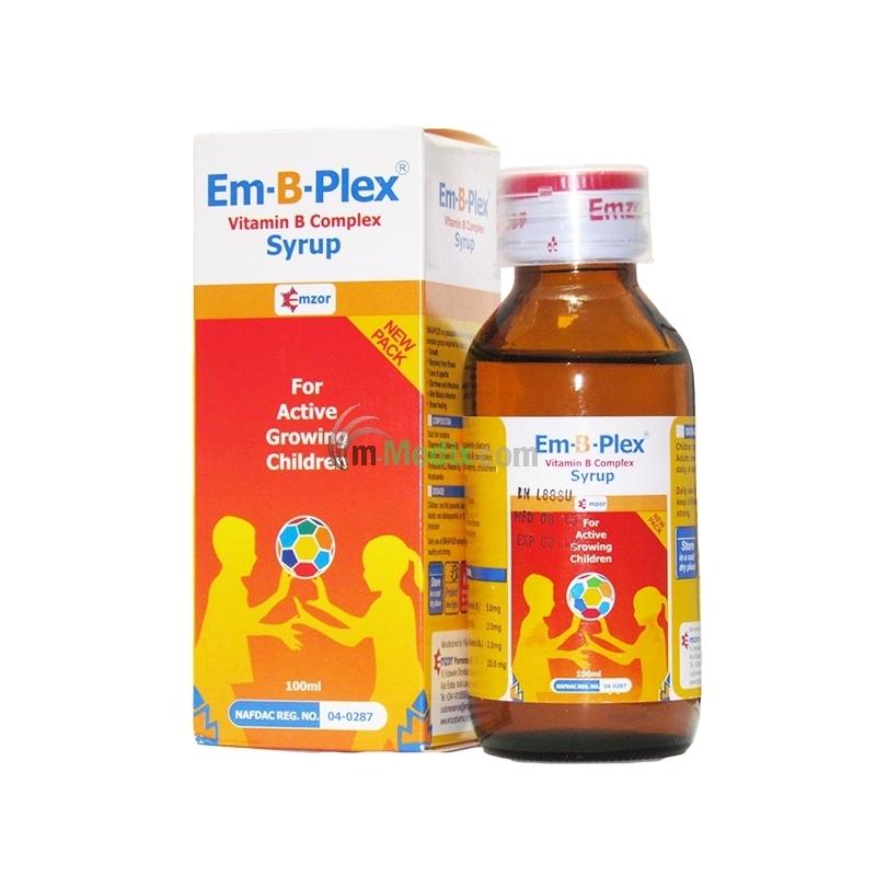Emzor Em-B-Plex Vitamin B Complex Syrup -...