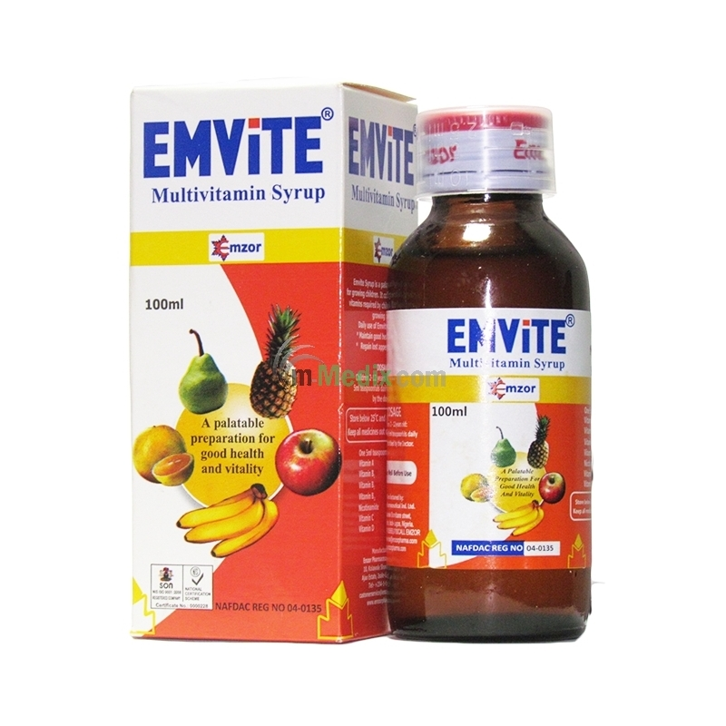 Emzor Emvite Multivitamin Syrup Ð 100ml