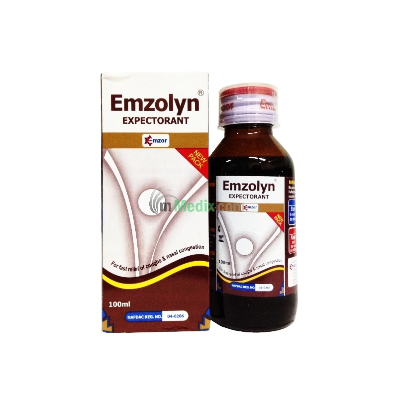 Emzor Emzolyn Expectorant Syrup - 100ml