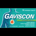Gaviscon Peppermint Chewable - 16 Tablets