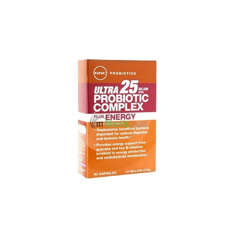 GNC Ultra 25 Probiotic Complex Plus Energy...