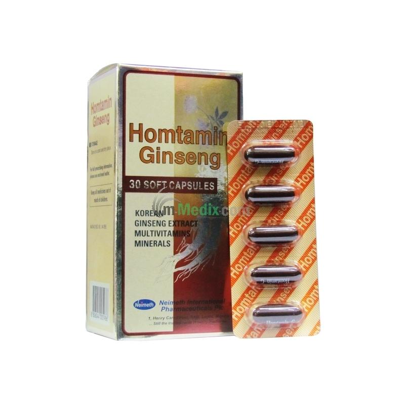 Homtamin Ginseng - 30 Capsules