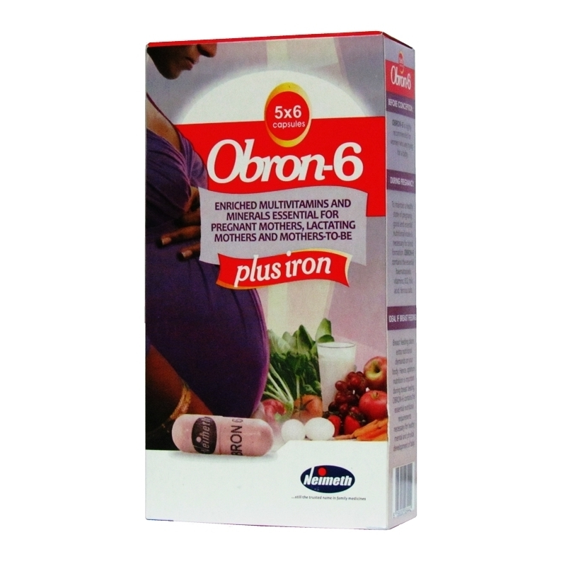 Obron-6 Plus Iron - 30 Capsules