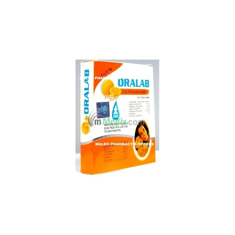 Oralab Oral Rehydration Salt - 3 x 27.9g...