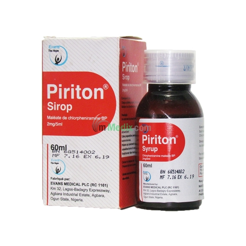 Piriton 2mg Syrup - 60ml