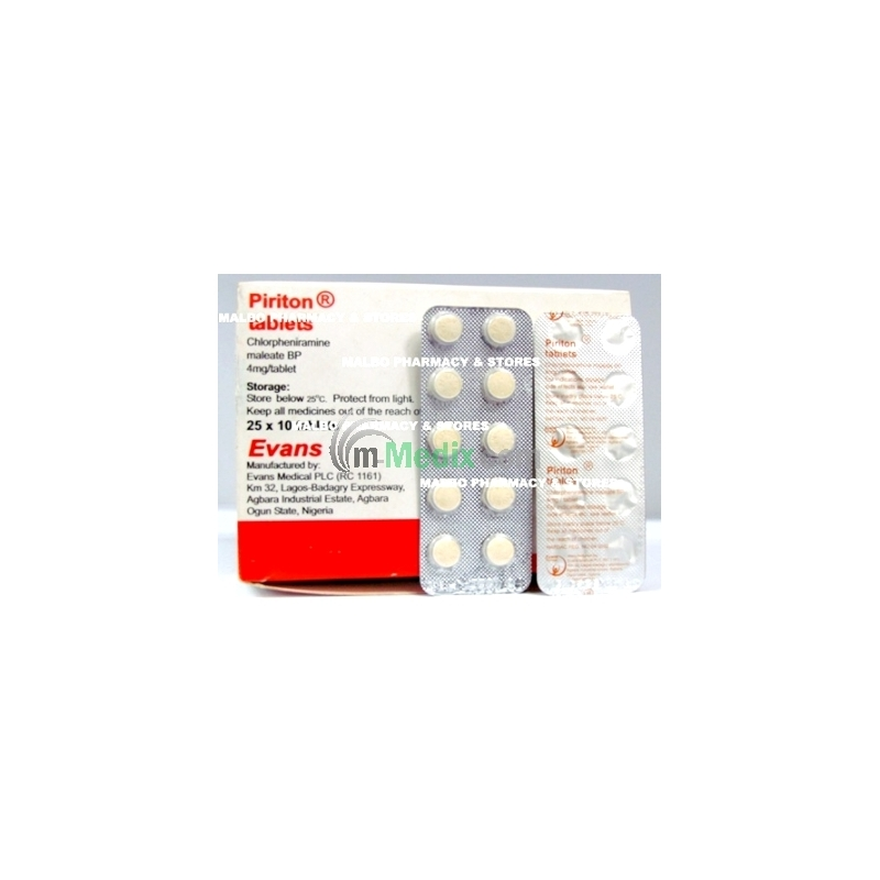 Piriton 4mg - 10 Tablets