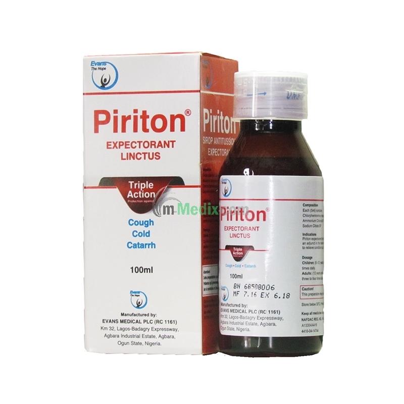 Piriton Expectorant Lintus Ð 100ml