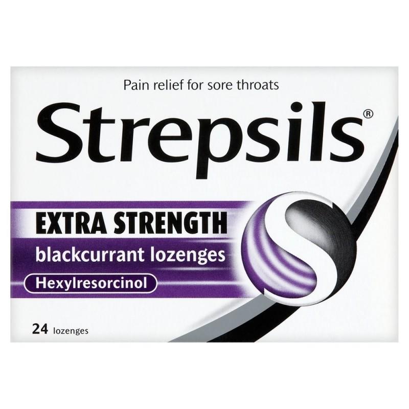 Strepsils Extra Strength Black Currant -...