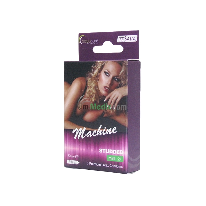 Tesara Machine Studded Mint x3 Condoms