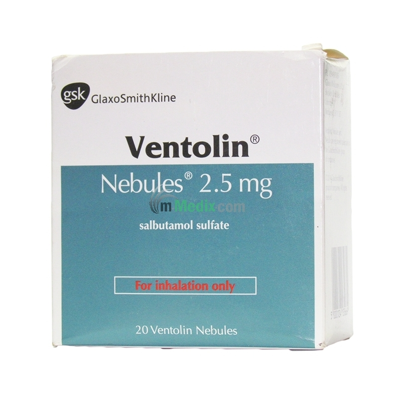 Ventolin Salbutamol 2.5mg Nebules - 2.5ml