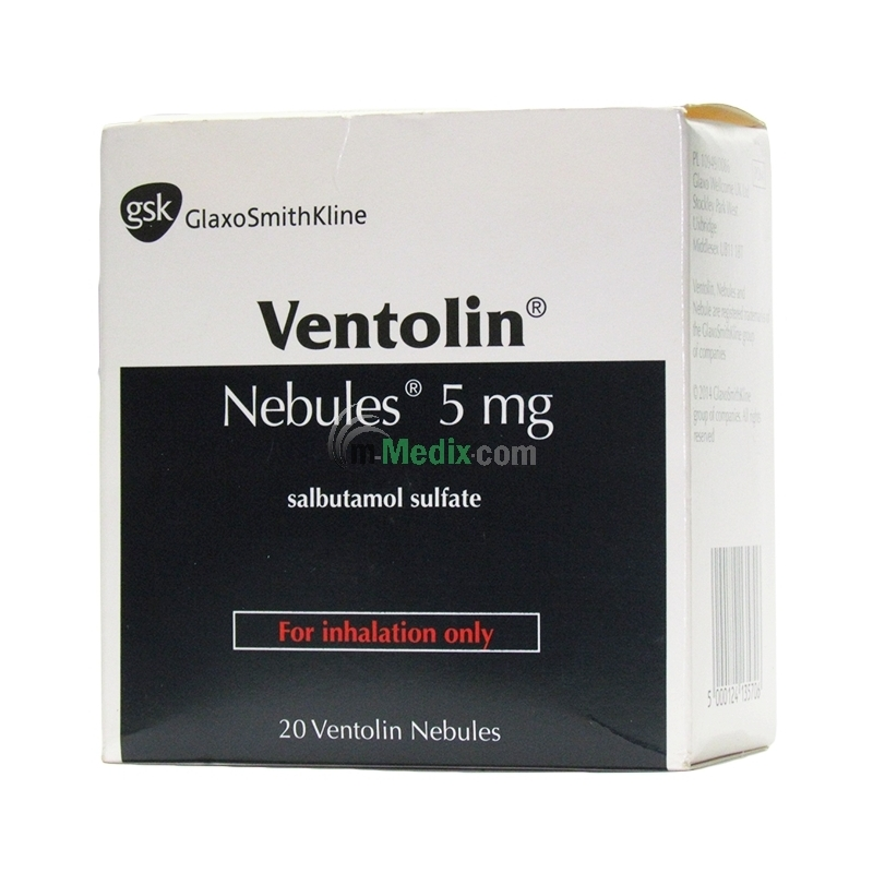 Ventolin Salbutamol 5mg Nebules - 2.5ml