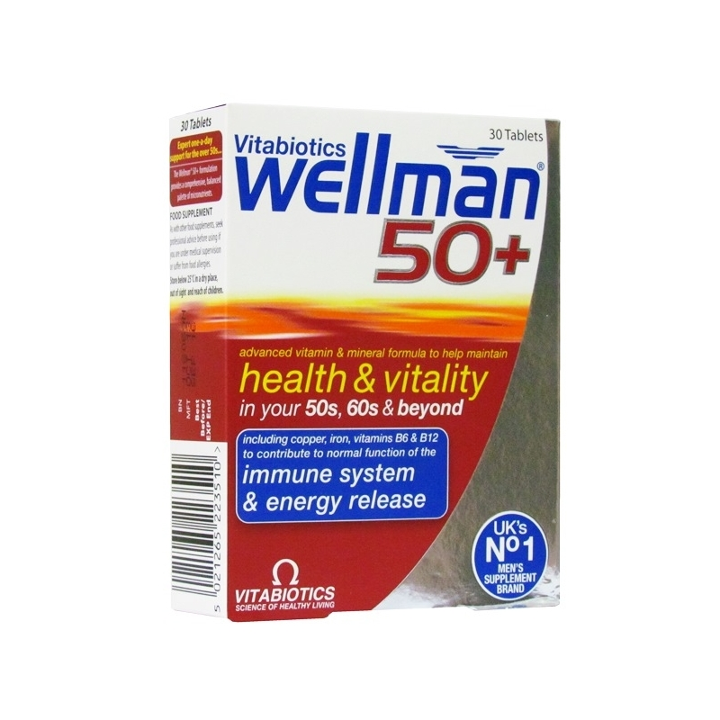 Wellman 50 Plus - 30 Tablets