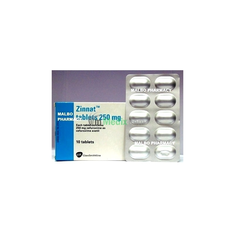 Zinnat 250mg - 10 Tablets